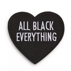 Other - ✨All Black Everthing Heart Patch✨